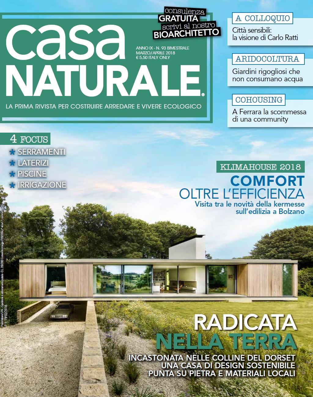 Media partner casa naturale la rivista sulle pratiche for Arredi ecosostenibili