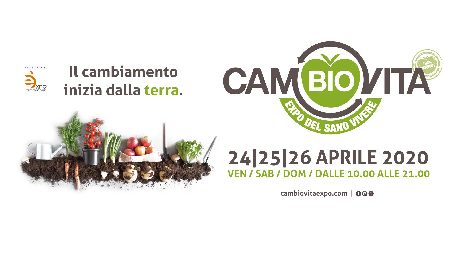 CamBIO Vita 2020 - Expo del sano vivere - 24, 25, 26 aprile 2020 Catania