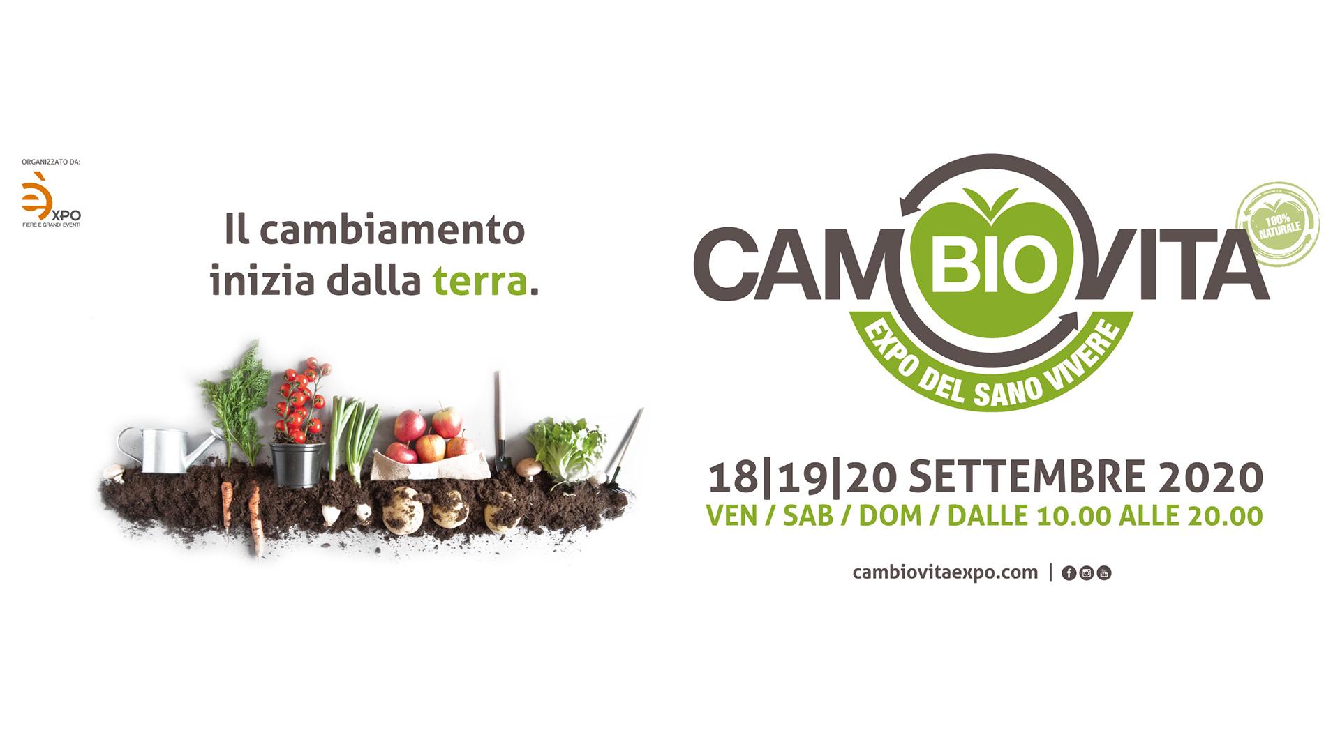 CamBIO Vita 2020 - Expo del sano vivere - 18, 19, 20 settembre 2020 Catania